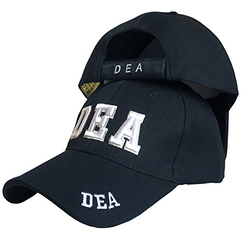 SunGal Drug Enforcement Administration (DEA), Law Enforcement Baseball Cap Hat (Black)