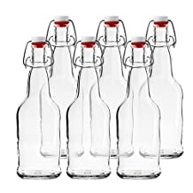 Chef's Star CASE OF 6 - 16 oz. EASY CAP Beer Bottles - CLEAR by Chefs Star®