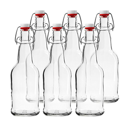 Chef's Star CASE OF 6 - 16 oz. EASY CAP Beer Bottles - CLEAR