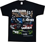 The Walking Dead Four Survivors Adult T-shirt Black XL