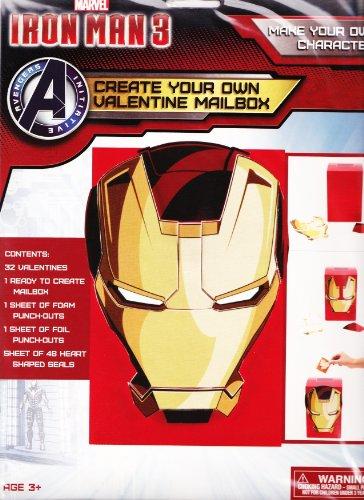Create Your Own Valentine Mailbox (Marvel Iron Man -