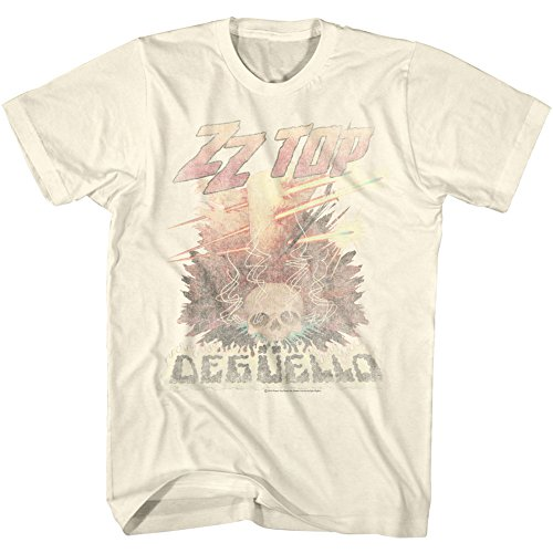 Faded Logo Tee - American Classics ZZ Top Rock Band Music Group Vintage Style Deguello Faded Logo Adult T-Shirt Tee