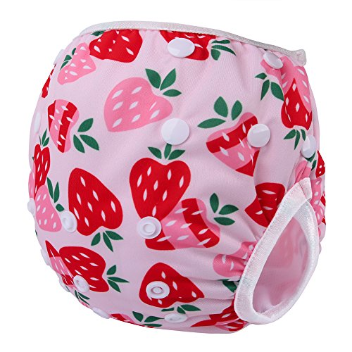 Storeofbaby Reusable Baby Swim Diaper Adjustable Swim Trunk for Infant 0 3 Years