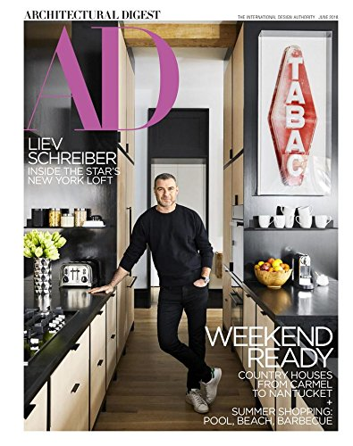 Architectural Digest Magazine (June, 2018) Liev Schreiber Cover
