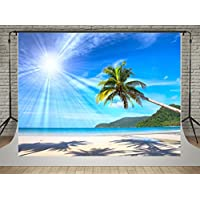 7x5ft(220x150cm) Summer Photo Backdrop Blue Sky Beach Photography Backgrounds Sunshine Photo Studio Video