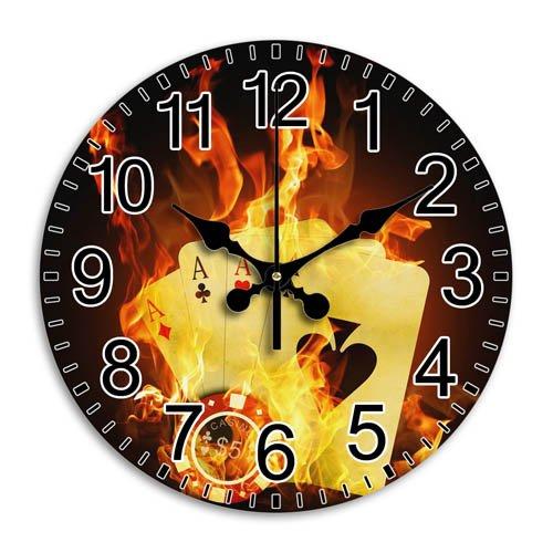 Monica M Joheson Round Wall Clock DIY Attractive Arabic Numbers Quiet Frameless Time Diameter 11.8 Inch