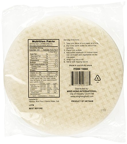 Greenland Spring Roll Rice Paper Wrappers 22 Cm