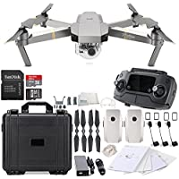 DJI Mavic Pro Platinum Collapsible Quadcopter Water Proof Hard Case Essential Bundle