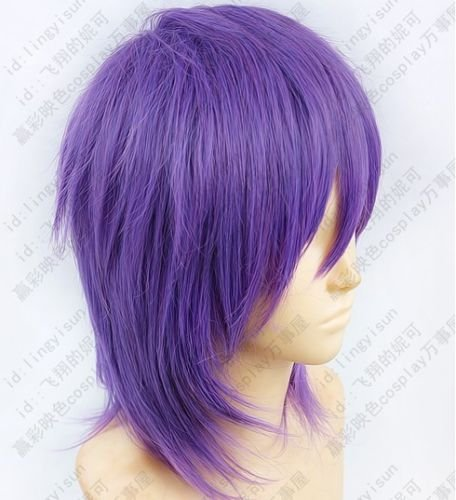Amazon.com: Kurokos Basketball Murasakibara Atsushi Purple mix Cosplay Short Wig: Beauty