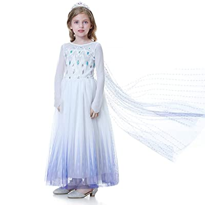 NOMILIAN Princess Dress,Girls Costume Birthday Party Dress Up Halloween Cosplay with Unique Design 2-10 Years: Clothing