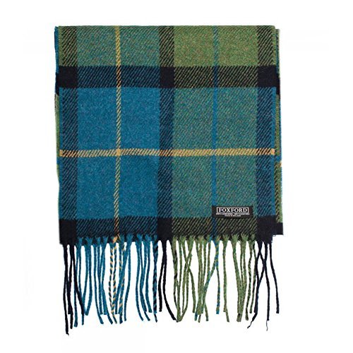 Wool Scarf, 100% Lambswool extra soft, Irish Wool, Imported, Plaid (Wollen Scarf Mens)