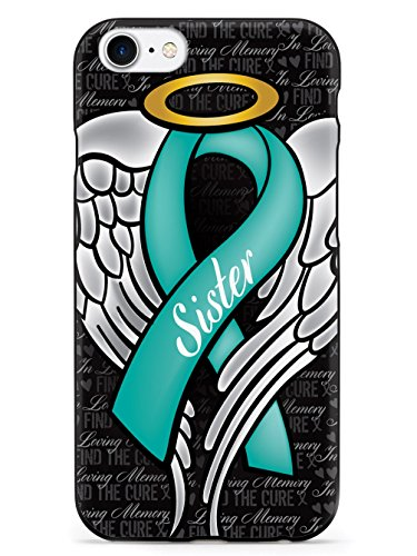Inspired Cases In Loving Memory of My Sister - Teal Ribbon Case for iPhone 7 Ribbon Cell Phone Case