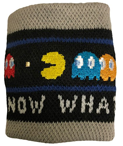 Pac-Man (Pacman) - Now What? Wristband Sweatband (One Size, Multicolor)