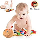 LIGHTDESIRE Musical Caterpillar Baby Toy, [Newest] Crinkle Rattle Soft with Ring Bell for Preschool Kid