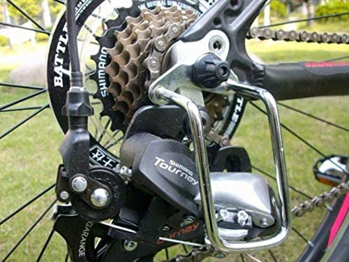 Fat-Cat Mantain Bike Bicycle Rear Derailleur Guard Rack Protector for Mountain Road Cycling Bike Black