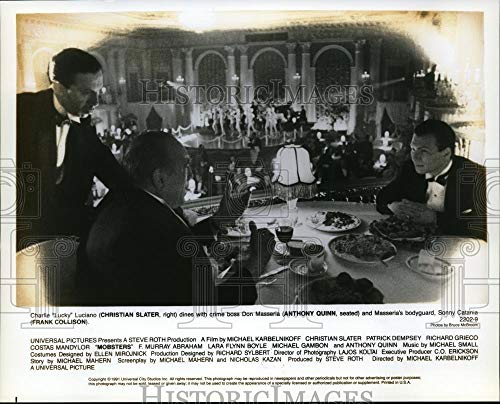 (Historic Images - 1991 Vintage Press Photo Christian Slater, Frank Collison and Anthony Quinn in Mobsters.)