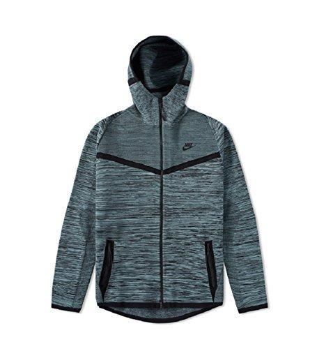 Nike Men's Tech Knit Windrunner Full Zip Jacket Black/Gray (Small)