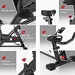 Allenamento-Spin-Bike-Professionale-Cyclette-Aerobico-Home-Trainer-Orologio-Elettronico-Multifunzionale-Staffa-Multifunzionale-Volano-Grande-Da-6-Kg-Velocita-Infinitamente-Variabile