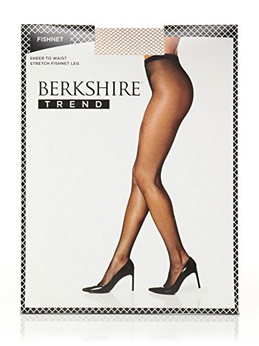- Berkshire Women's Fishnet Pantyhose, Nude, 2 Plus