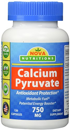 Nova Nutritions Calcium Pyruvate 750 mg 120 Capsules