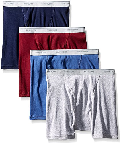 Fruit Of The Loom Men's Assorted Color X-Size Boxer Brief(Pack Of 4) (Assorted, XXX-Large (Waist 48