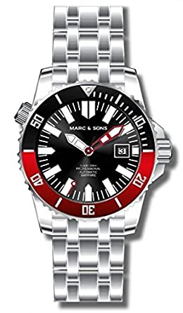 MARC & SONS Professional Automatik Taucheruhr - Mechanical Diver Watch - MSD-032