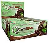 Quest Nutrition Protein Bar Mint Chocolate Chunk. Low Carb Meal Replacement Bar w/ 20g+ Protein. High Fiber, Soy-Free, Gluten-Free (24 Count)