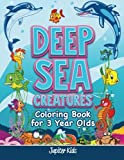 Best Jupiter Kids Kid Books For 3 Year Olds - Deep Sea Creatures: Coloring Book for 3 Year Review