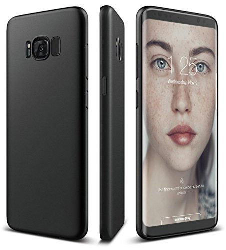 Price comparison product image For Samsung Galaxy S8/S8 Plus, MNtech New Luxury Ultra-thin Slim Silicone Soft TPU Case Cover (Black, For Samsung Galaxy S8 Plus)