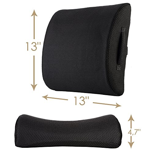 amazon com lower back lumbar support pillow instant back pain rh amazon com chair cushions for back problems amazon Office Chair Back Support Cushion