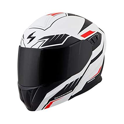 d262ebe8 Amazon.com: Scorpion EXO-GT920 Helmet - Shuttle (MEDIUM) (WHITE/BLACK/RED):  Automotive