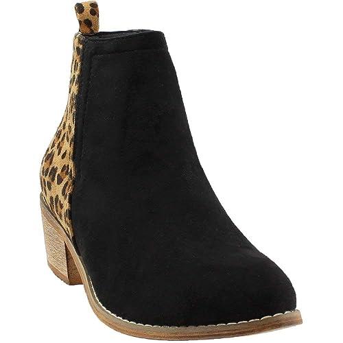 0d9dcd60f65 Corkys Footwear Womens Ladies Shield Black/Leopard Bootie