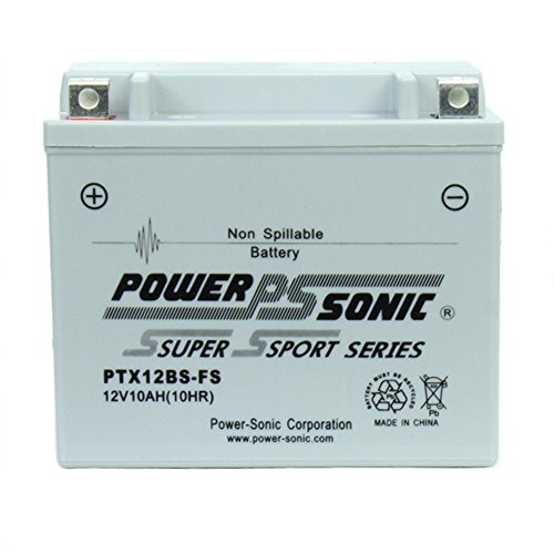PTX12BS-FS 12V 10AH Battery Replacement for Kawasaki ZZR600 (Kawasaki Zzr600 Specifications)