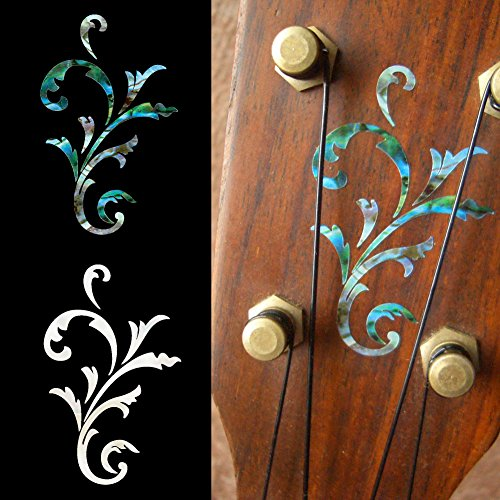 Headstock Inlay Stickers Decals - Small Vine SET Concert Decal