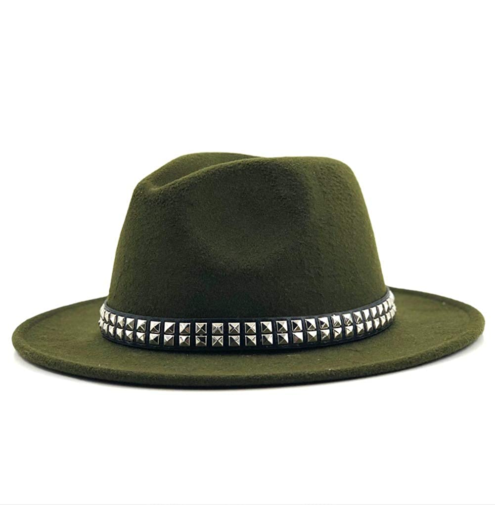Unisex Wide Brim Wool Fedora Hat Classic Trilby Hat Retro Style Bowler Hats