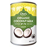 Cha's Organics Organic Light Coconut Milk Multipack - Natural & Gluten-Free Coconut Milk Cans, Perfect For Dairy-Free & Vegan Asian Recipes, Exotic Cocktails & Mouth-Watering Desserts - 6 x 13.5oz