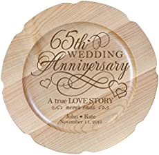 Modern Traditional 65th Wedding Anniversary Gifts For Women Men