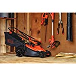 BLACK+DECKER Electric Lawn Mower, 10 -Amp, 15-Inch (BEMW472BH) 26 IMPROVED ERGONOMICS: Comfort grip handle makes the lawn mower easy to maneuver BETTER CLIPPING COLLECTION: Our winged blade achieves 30% better clipping collection NO MORE PULL CORDS: Push-button start makes starting the lawn mower a breeze