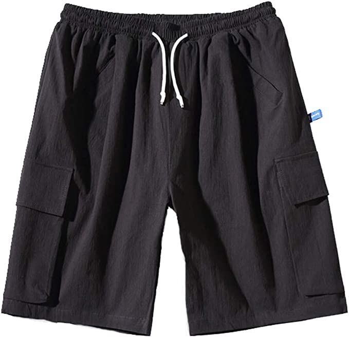APTRO Mens Cargo Shorts Twill Relaxed Fit Multi-Pockets Outdoor Casual Shorts