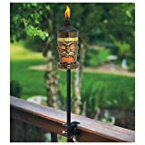 "TIKI Torches 2 Pack Set  King TIKI Outdoor 4-In-1 For Tabletop Deck Garden Or 64"" Yard Lamp"