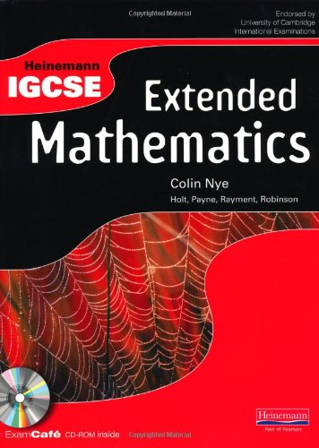 Heinemann IGCSE Extended Mathematics Student Book with Exam Cafe CD