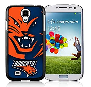 New Custom Design Cover Case For Samsung Galaxy S4 I9500 i337 M919 i545 r970 l720 Charlotte Bobcats 1 Black Phone Case