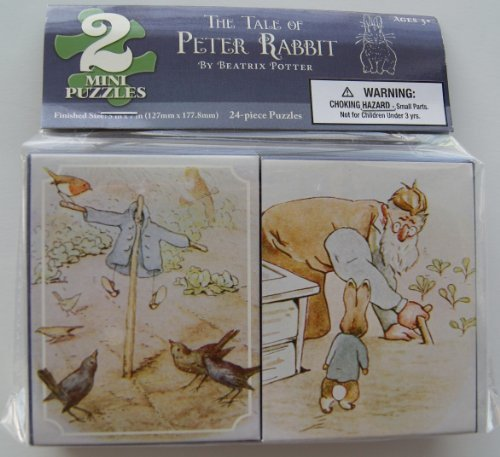 The Tale of Peter Rabbit 2 Mini Jigsaw Puzzles - 24 Pieces Each