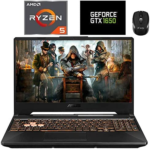 "2020 Flagship ASUS TUF A15 Gaming Laptop 15.6"" FHD 144Hz IPS AMD 6-core Ryzen 5 4600H (>i7-9750H) 32GB RAM 512GB PCIe SSD + 1TB HDD GTX 1650 4GB RGB Backlit HD Webcam Win10 + iCarp Wireless Mouse"