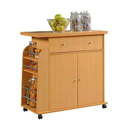 Pleasant Amazon Com Rolling Kitchen Island With Storage Cart Home Remodeling Inspirations Propsscottssportslandcom