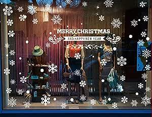 ملصق جداري قابل للإزالة بتصميم ندفة الثلج للكريسماس لتزيين النوافذ وديكورات الحوائط لسوق ديكور المنزل
