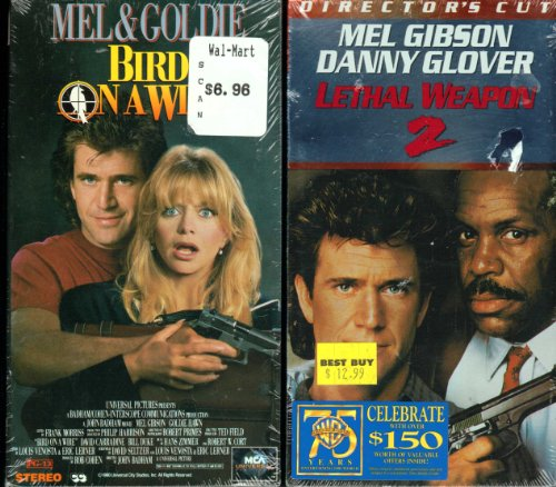 Mel Gibson, 2 VHS: 1. Bird on a Wire; 2. Lethal Weapon 2