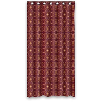 Luxury Classic Dark Color Pattern In Red Shower Curtain 36quotx72quot New Waterproof