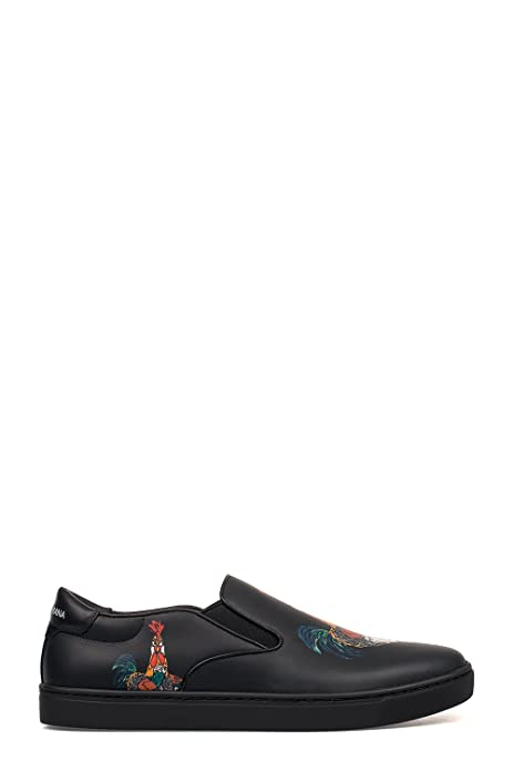 Dolce E Gabbana Slip On Sneakers Uomo Cs1365ag278hn692 Pelle Nero   Amazon.it  Scarpe e borse c3e40b55ee9