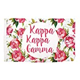 Kappa Kappa Gamma Rose Pattern Letter Sorority Flag Greek Letter Use as a Banner 3 x 5 Feet Sign Decor KKG For Sale